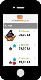 E. parduotuvės mobilios versijos prekių sąraše patogiau peržiūrėsite prekes