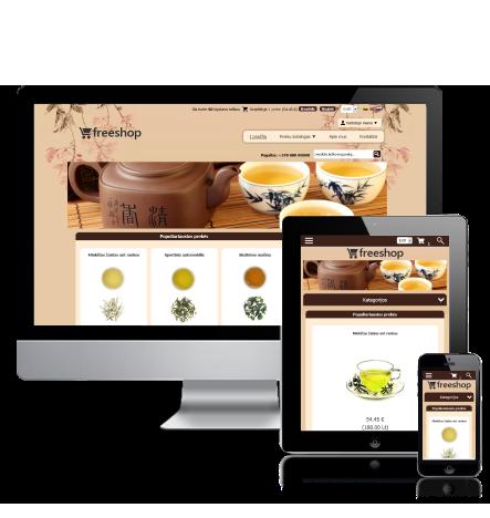 E-shop design theme Tea