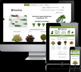 Augalų elektroninė parduotuvė internete