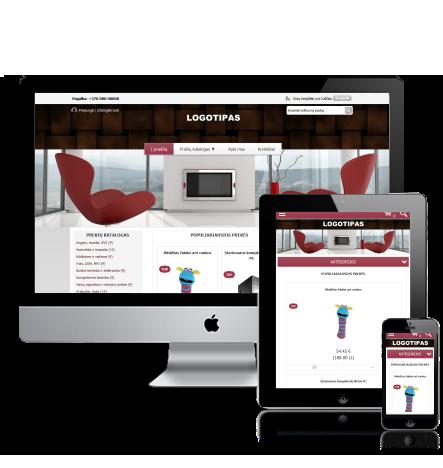 Baldų interjero elektroninė parduotuvė internete