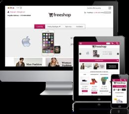 Internetinės parduotuvės šablonas Purple2