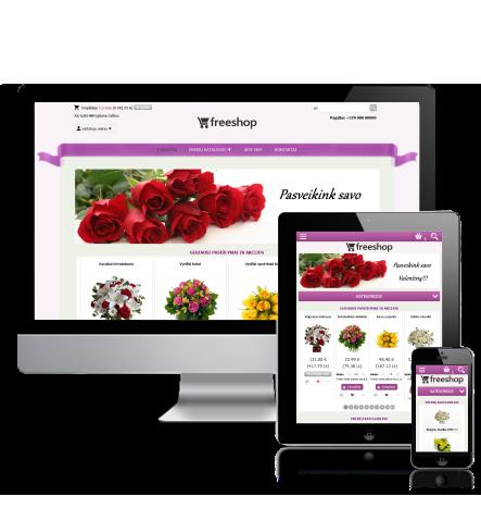 Gėlių elektroninė parduotuvė internete