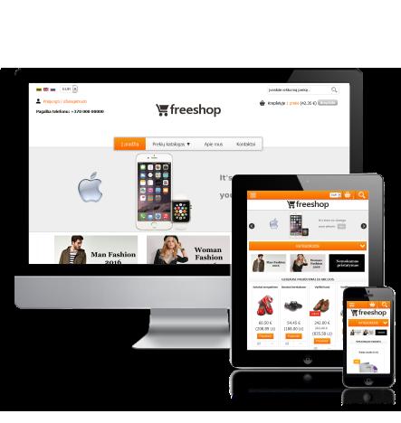 Internetinės parduotuvės šablonas Orange
