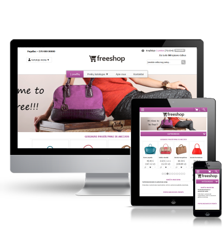 E-shop design theme Handbag