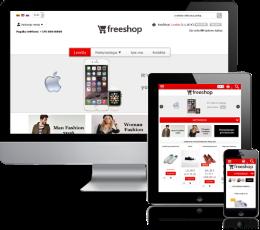 Elektroninės parduotuvės dizainas Red