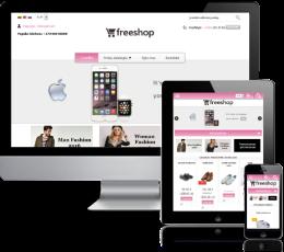 Internetinės parduotuvės šablonas Pink
