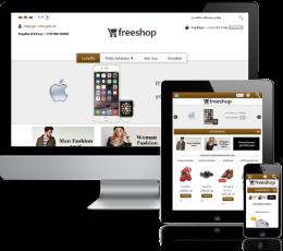 Internetinės parduotuvės šablonas Brown
