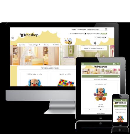 Vaikų elektroninė parduotuvė internete