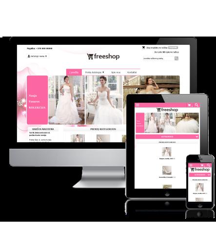 E-shop design theme Wedding