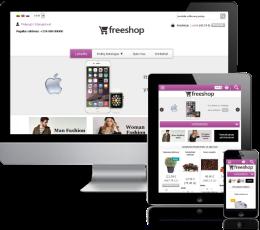 Elektroninės parduotuvės dizainas Violet2