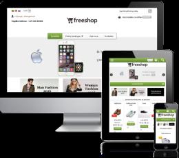 Internetinės parduotuvės šablonas Green