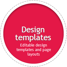 E-shop design themes | Editable design templates and page layouts